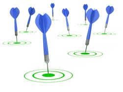 darts in bullseye